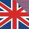 36423 London London Double-Sided Paper 30,5x30,5 cm Britisch Flag.