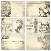 9589 Now & Then Old Timer Journaling Cards 3.375