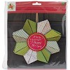 37362 Christmas Cardstock Wreath Kit Merry Christmas & Happy New Year. - 37362