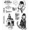 37531 Stampers Anonymous Brett Weldele Cling Stamps Barks Marvin The Crime Solving Dog.