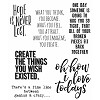 38417 Tim Holtz Cling Stamps Ponderings (CMS252).