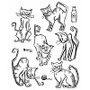 38418 Tim Holtz Cling Stamps Crazy Cats (CMS251).