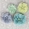 38602 Merci Lace Fabric Flowers 1.5