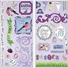 38989 Bo Bunny Secret Garden Self-Adhesive Chipboard. - 38989
