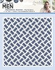 39170 Crafters Companion Embossing Folder 6x6 Checkerplate.