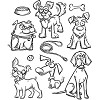 43587 Tim Holtz Cling Stamps Crazy Dogs (CMS271).