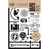 43842 Art-C Stencil & Clear Stamp Travel.
