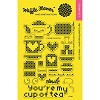 43960 Waffle Flower Crafts Clear Stamps 10,5 x 15 cm Stitched Cup Of Tea.