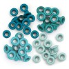 46894 We R Memory Keepers Eyelets Standard 60/Pkg Auqa (41577-0).