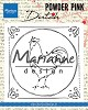 47302 Marianne Design Clear stamp Powder Pink - Haan (PP2805) 82x82 mm.