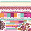 51331 Kaisercraft Bombay Sunset Cardstock Stickers 12