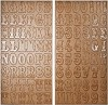 14002 Idea-Ology Kraft Resist Chipboard Letters (TH92988).
