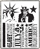 15832 Tim Holtz Cling Rubber Stamp Set Americana Silhouettes. - 15832