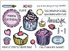 18056 Umount Cupcake A5 Stamp Plate.