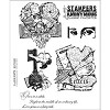 19341 Tim Holtz Cling Rubber Stamp Set Classics 8.