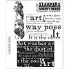 19346 Tim Holtz Cling Rubber Stamp Set Classics 4.