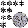 19378 Maya Road Chipboard Set 18 Stuks Snowflakes 9 Styles. - 19378