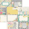 22079 Simple Stories Vintage Bliss 2-Sided Paper Horizontal Journaling Cards.