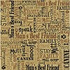 23665 Printed Single-Sided Cardstock Kraft Dog Words.