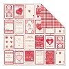 25561 Authentique Smitten Promise Valentine Coupons/Heart Gingham. - 25561