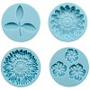 25788 Martha Stewart Crafter`s Clay Silicon Molds 4/Pkg Flowers And Leaf.
