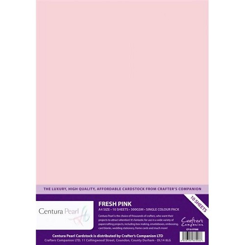 27170 Fresh Pink - Centura Pearl A4 Printable Card Pack (10 sheets) .