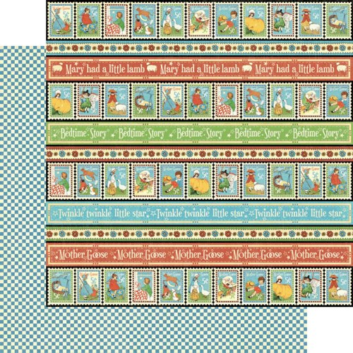 28610 Graphic 45 Mother Goose Collection Playful Postage (4500750).