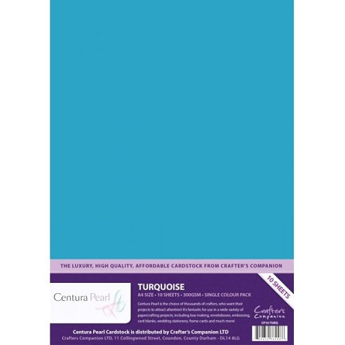 29113 Turquoise Centura Pearl A4 Printable Card Pack 10 Sheets.