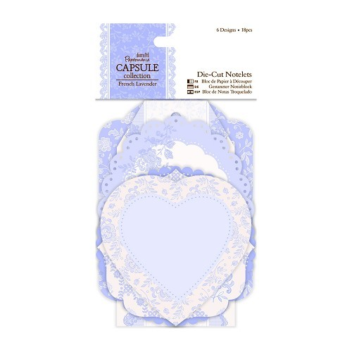 30586 Die-cut Notelets (18pcs) - Capsule Collection - French Lavender.