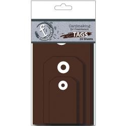 31221 Fundamentals Tags 24/Pkg Chocolate.