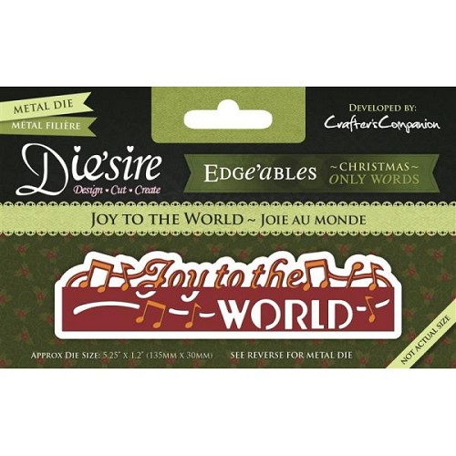 36001 Die`sire Christmas Only Word Edge`ables - Joy to the World.