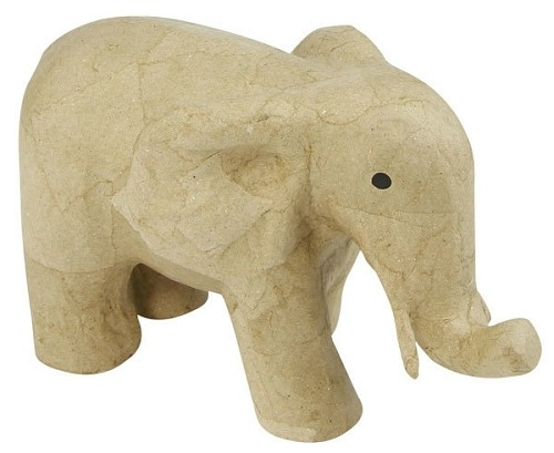 48463 Papier-maché Decopatch Olifant 23 x 12 x 14 cm.