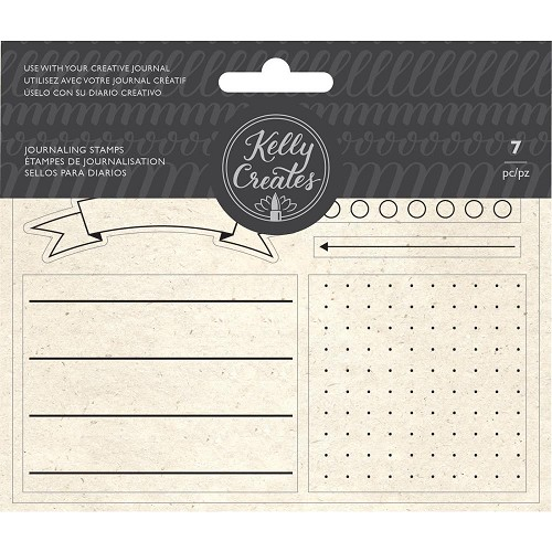 50390 American Crafts Kelly Creates Acrylic Traceable Stamps Journaling.