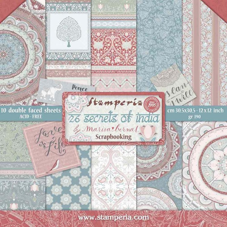 "Ciao Bella Sound Of Winter Double-Sided Cardstock 12/"" Scrappapier 30,5 cm 190 gr"