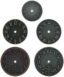 2026 Nickel/Brass/Copper Clock Faces/ Timepieces. (TH92831).