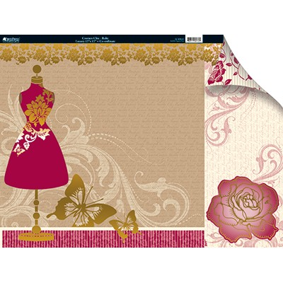 10063 Kanban Couture Chic Ruby 12x12 + Co-ordinate.