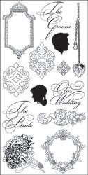10529 Wedding Silhouette Clear Stamps 4