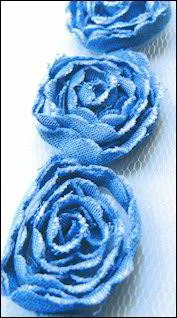 11730 Flower Ribbons Blue jeans large (FR1109).
