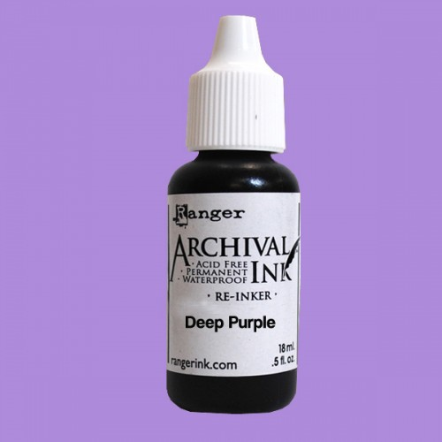 12763 Archival Reinker .5 Ounce Deep Purple (478005).