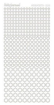13368 Hobby Dots Sticker 008 Adhesive White.