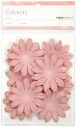 13595 Paper Flowers  (5cm) 25/Pkg Dusty Pink.