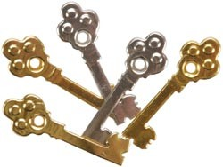 13978 Eyelet Outlet Quicklets Skeleton Key 12 stuks.