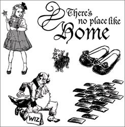 13993 Graphic 45 The Magic Of Oz Cling Stamps 4.5