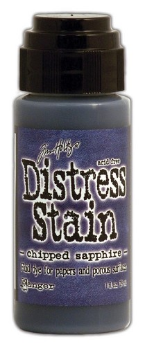 14014 Distress Stain dabber Chipped Sapphire.