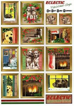14484 1x stansvel Eclectic Christmas Dogs.