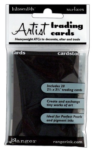 14697 Inkssentials surfaces Black ATC cards / 20 ST.