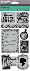 15086 Memory Lane Rubber Cling Stamps 4
