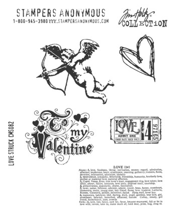 15139 Tim Holtz Mounted stamp set Love struck.
