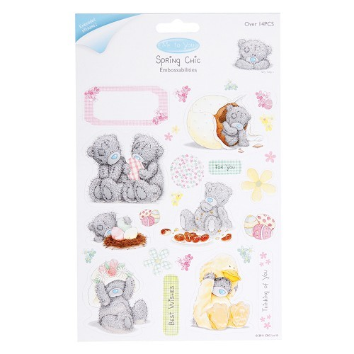 15476 EMBOSSED CARDSTOCK STICKERS (EASTER GOODIES).