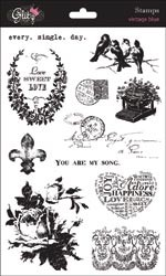 15906 Glitz Vintage Blue Clear Stamps.